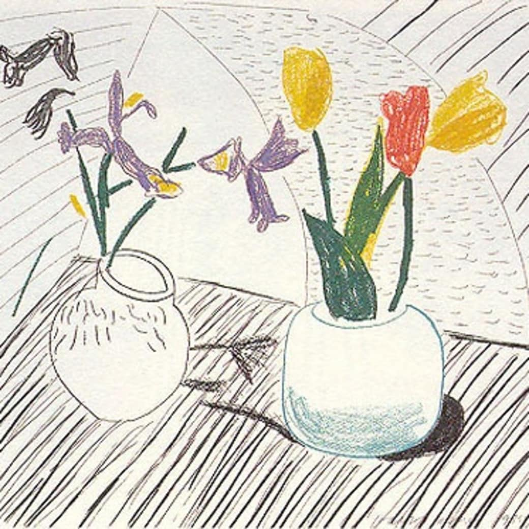 David Hockney, White Porcelain, 1985-86