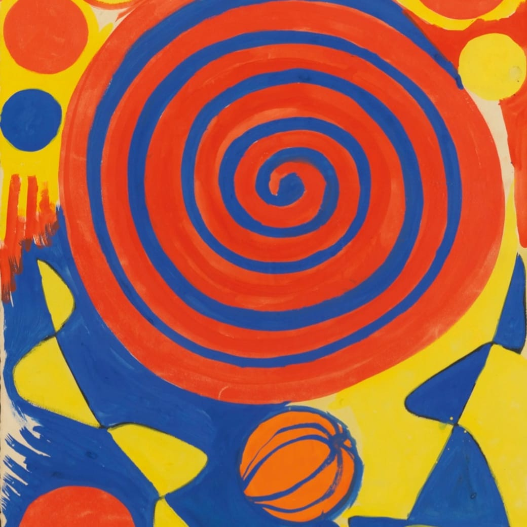 Alexander Calder, Spiral with Pumpkin, 1972