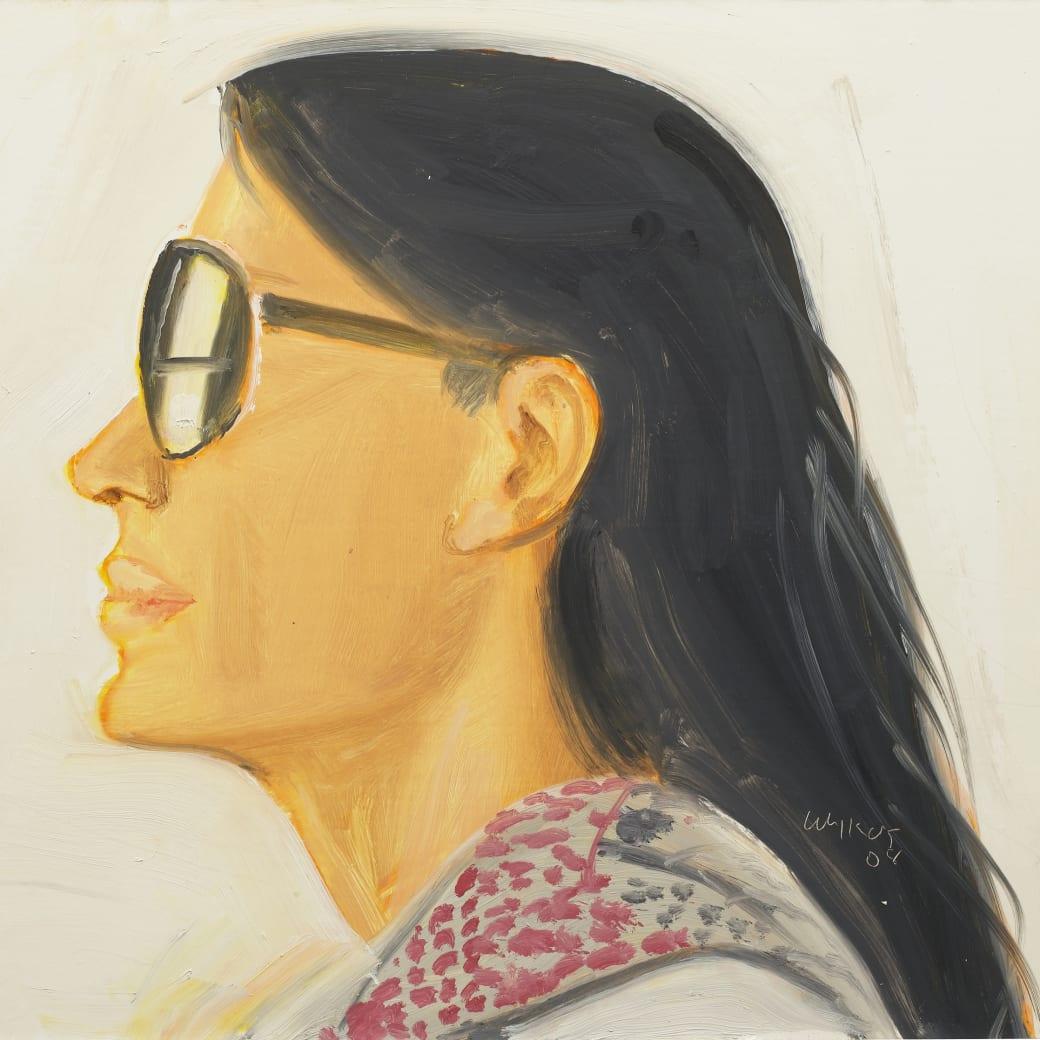 Detail of Alex Katz, Carmen, 2008, Oil on board, 12 x 16 inches (30.5 x 40.6 cm)