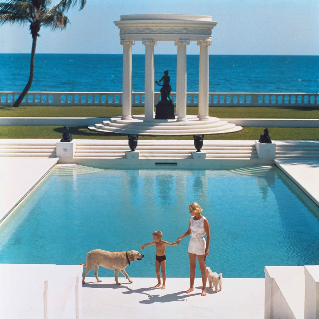 "Photographer Slim Aarons' ""Nice Pool"" C-type print"