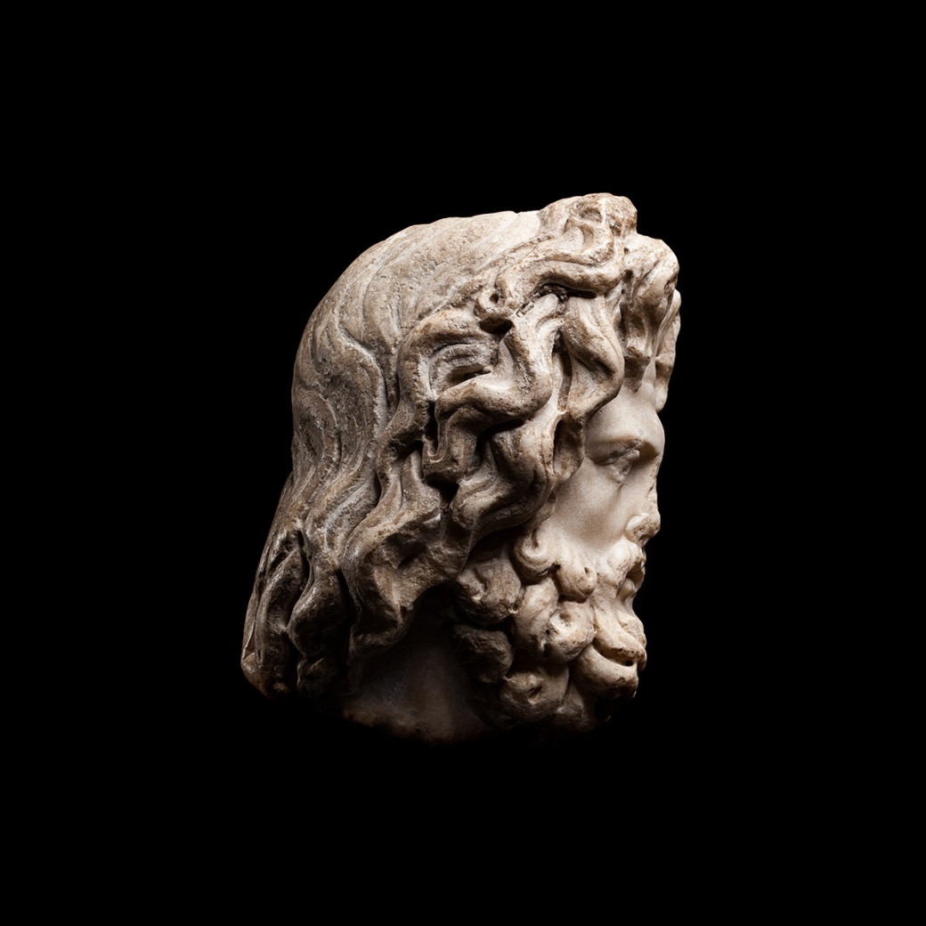 Head of a Bearded God