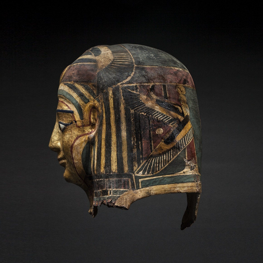 Gilt Cartonnage Mummy Mask