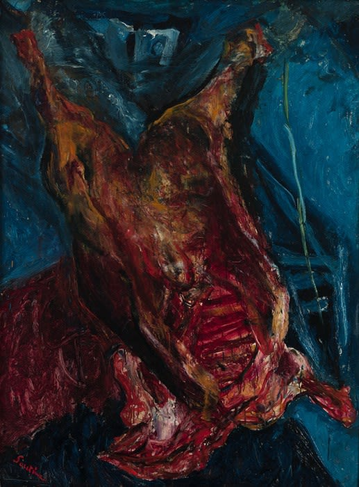 Chaim Soutine, 'Carcass of Beef' 1925. Collection Albright-Knox Art Gallery, Buffalo, New York