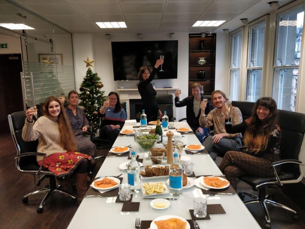 Aleph Contemporary Team celebrates its first Christmas