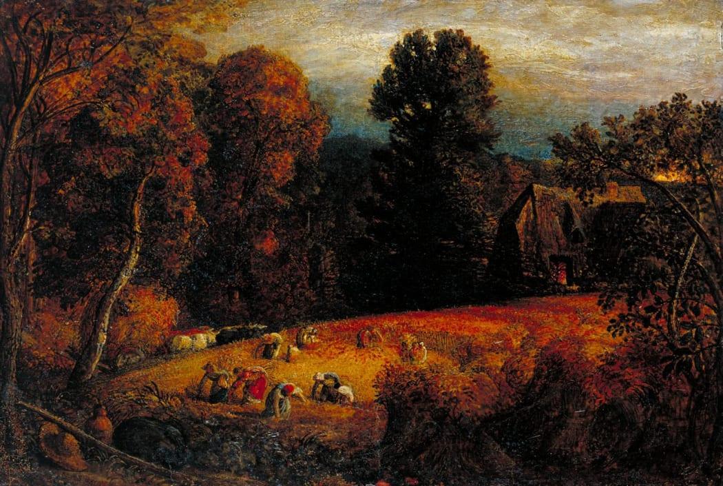 Samuel Palmer, 'The Gleaning Field' 1833, Tate Britian