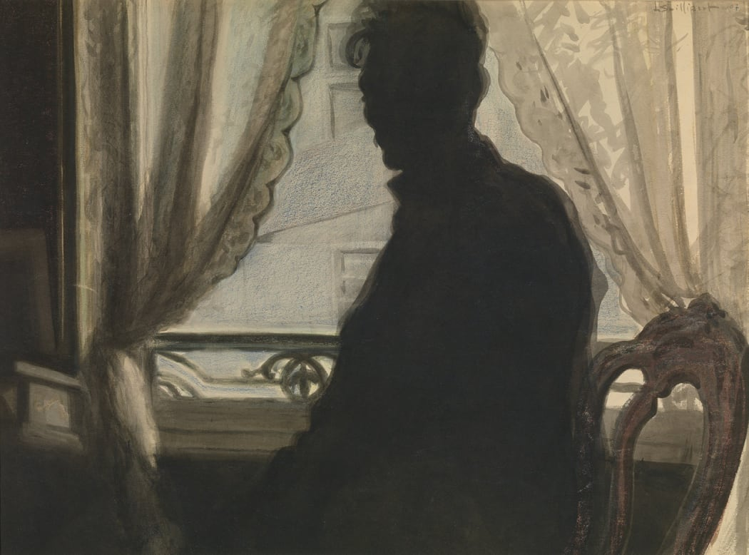 Léon Spilliaert, 'Silhouette of the Artist' (1907)