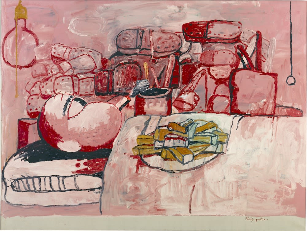Philip Guston. Painting, Smoking, Eating. 1973.STEDELIJK MUSEUM/© THE ESTATE  OF PHILIP GUSTON