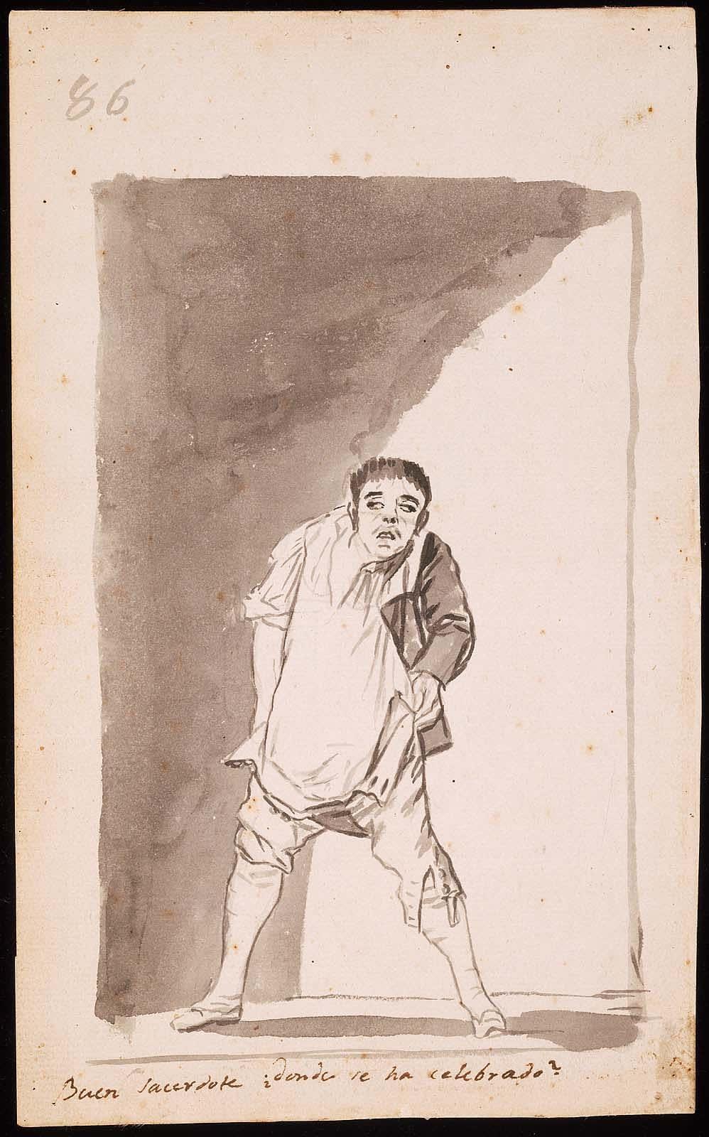 FRANCISCO GOYA, 'GOOD PRIEST, WHERE WAS IT CELEBRATED?' 1796 - 97 PRADO MUSEUM