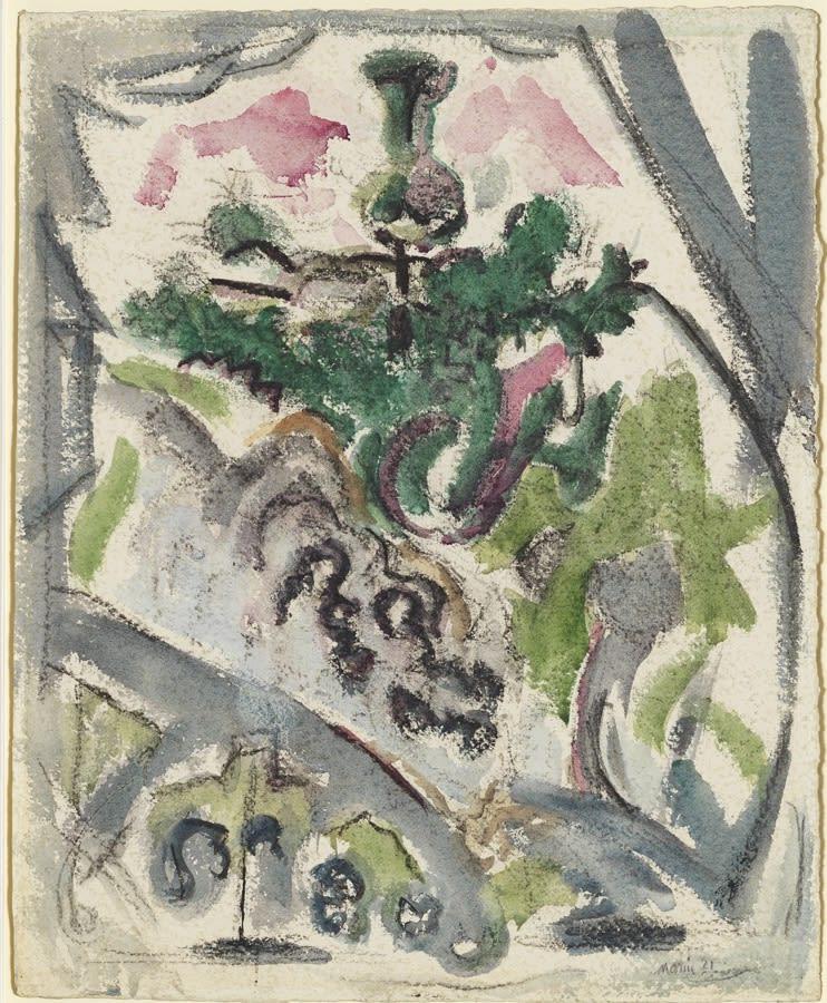 John Marin, Little Fir Tree, Deer Isle, 1921