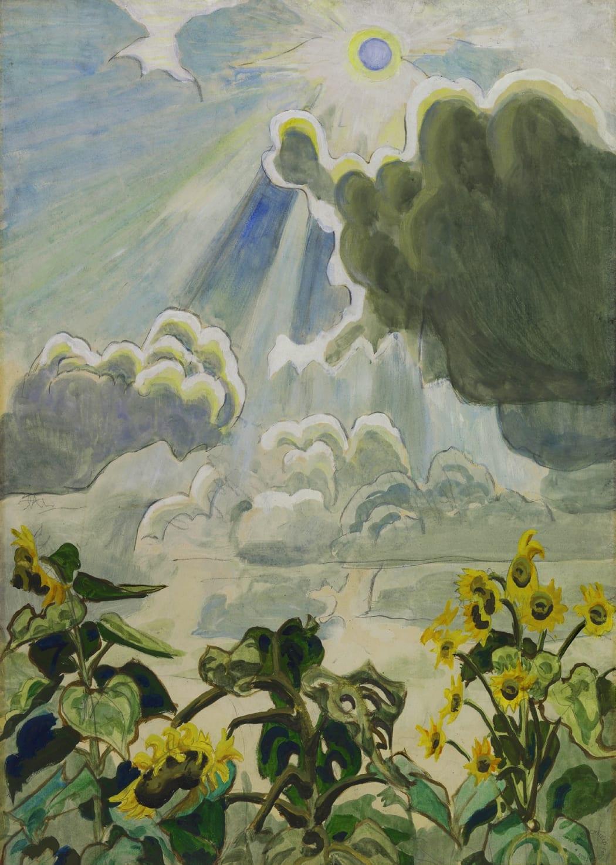 Charles Burchfield, Sunflowers, 1916-1922
