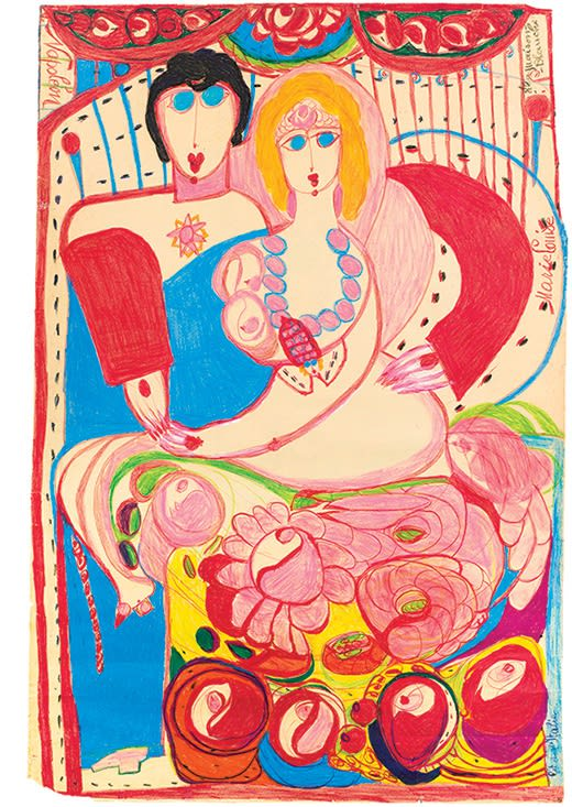 ALOISE CORBAZ, Marie-Louise a la Maison Blanche, 1960-63, crayon on paper, 105.5 x 101 cm, 41.5 x 39.8 ins., Kunstmuseum Solothurn