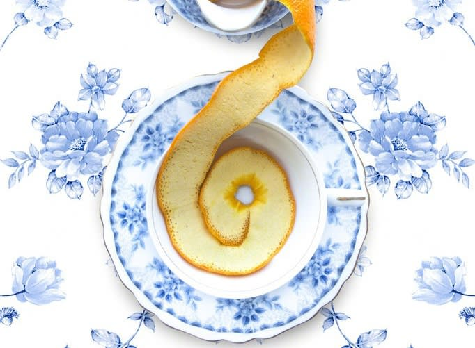 © JP Terlizzi, Empress Royal Hague Blue Floral with Orange (2019)