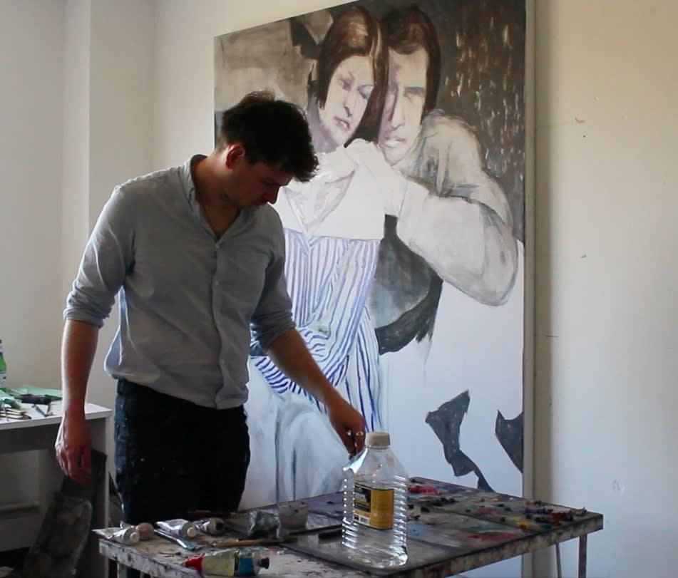 Tomas Harker in his Studio