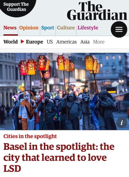 ARTSTÜBLI IN THE GUARDIAN – Basel in the spotlight
