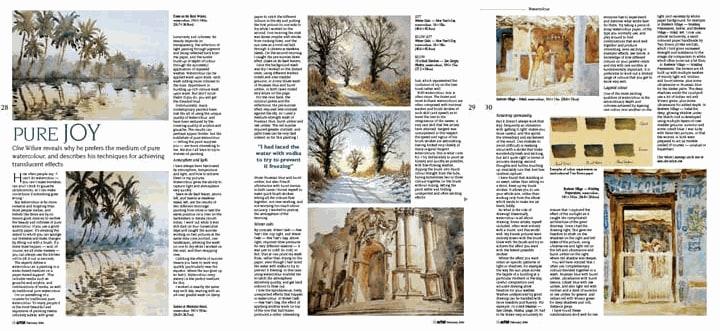 Coverage in The Artist Magazine