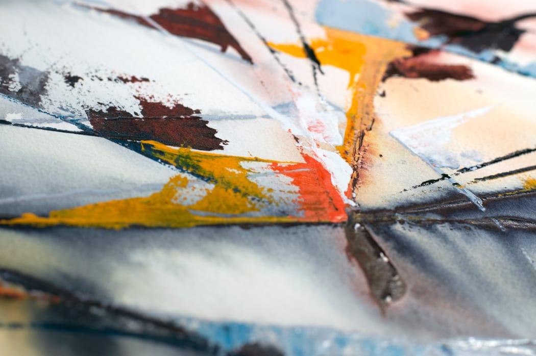 Motion Magnetics painting detail | Copyright © Maria Lorena Lehman
