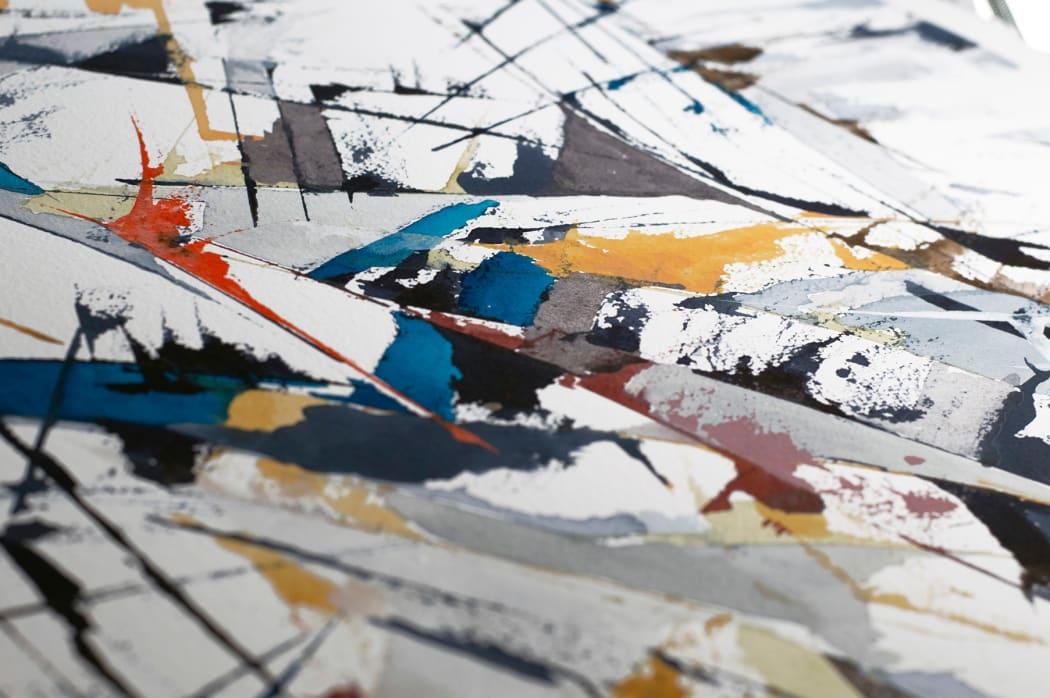 Metamorphosis from Within painting detail | Copyright © Maria Lorena Lehman