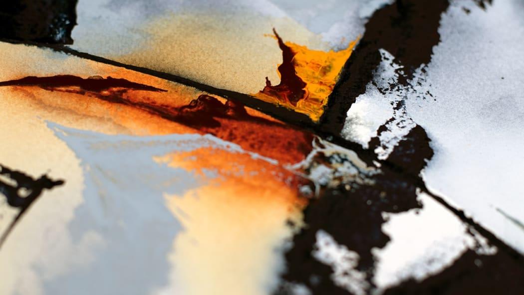 Echoes of Time painting detail | Copyright © Maria Lorena Lehman