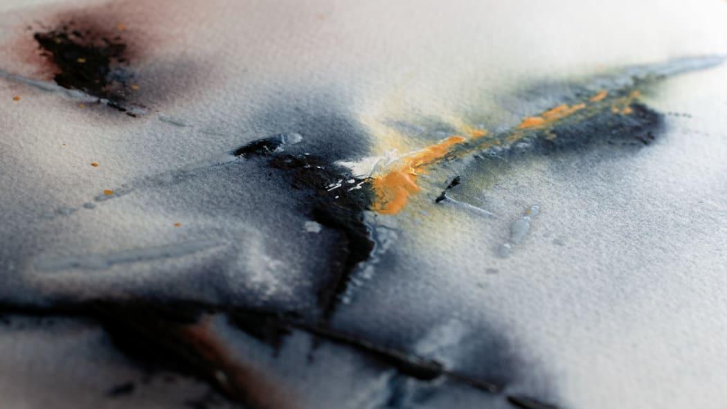 CloudMap No. 1 painting detail | Copyright © Maria Lorena Lehman