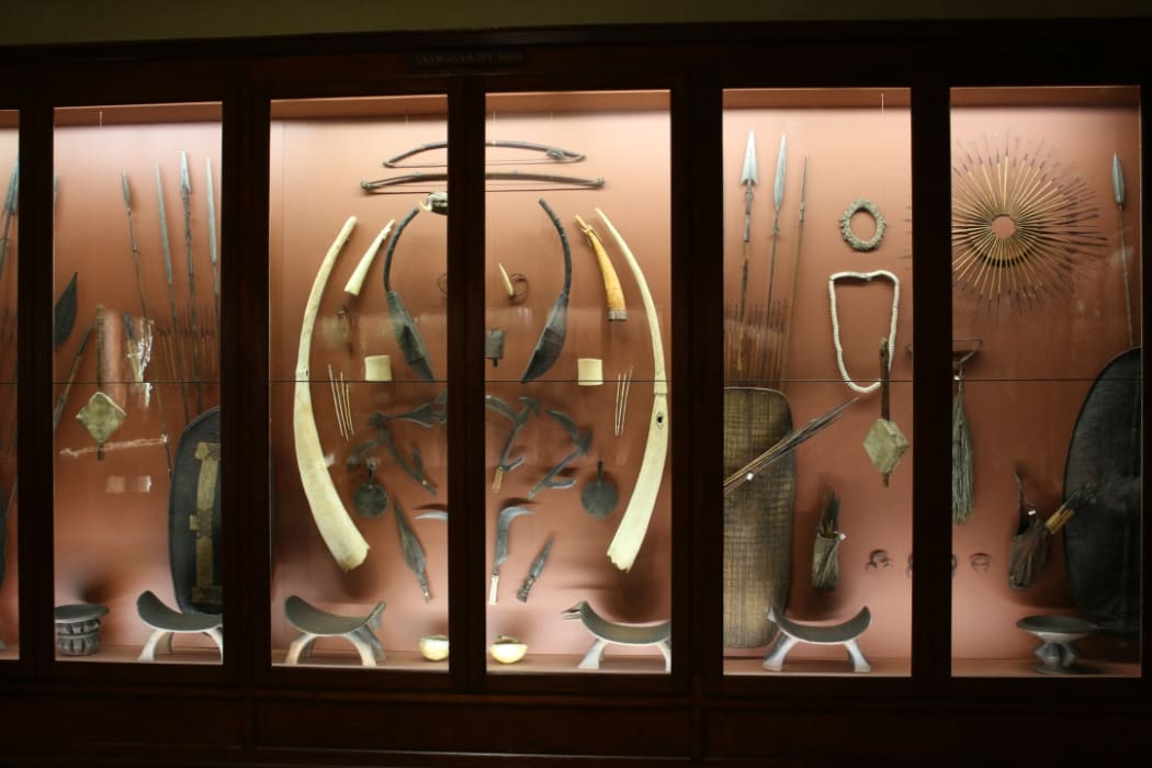 Part of the Giovanni Miani collection from South Sudan at the Museum of Natural History, Venice (Italy).
