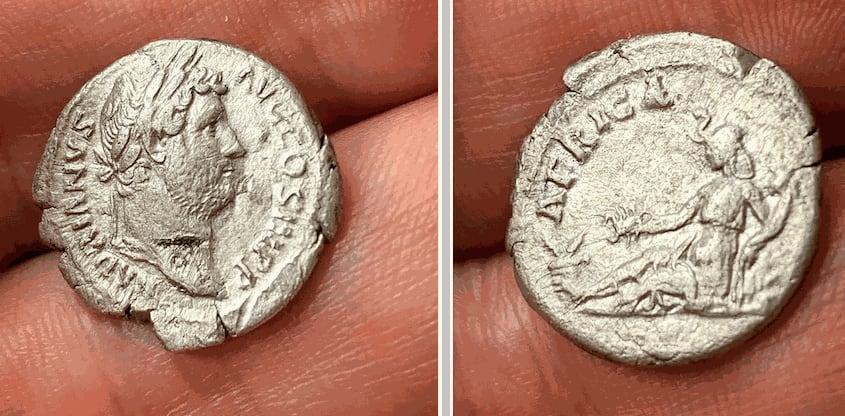 My first Roman coin