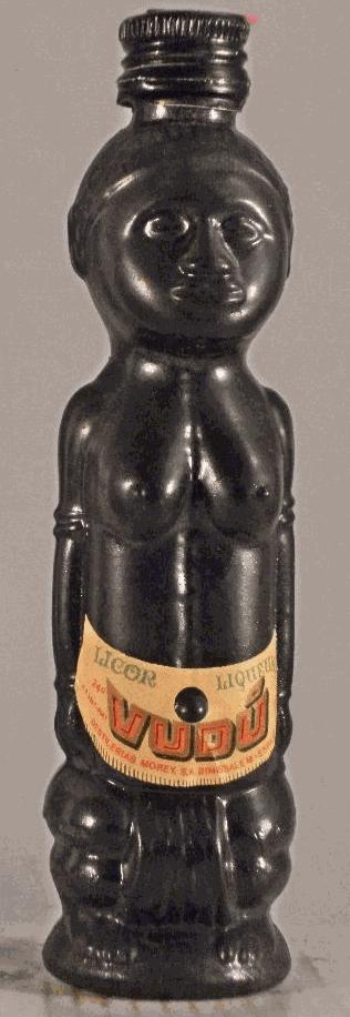 An African Art inspired bottle : Vudu liquor