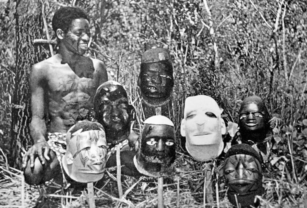 Collecting Makonde masks in Mozambique in the mid 1950s