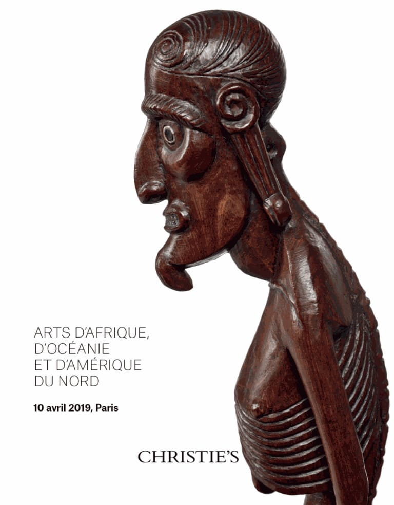 Catalog online: Christie's, African, Oceanic and North American Art, Paris, 10 April 2019