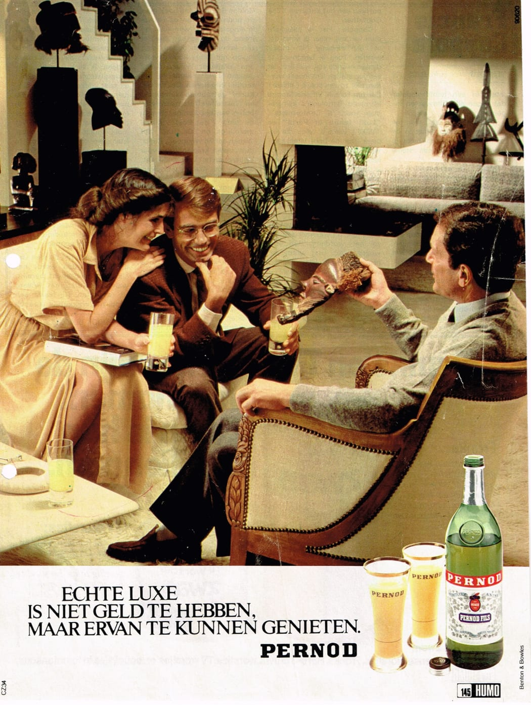African art in a Pernod advertisement