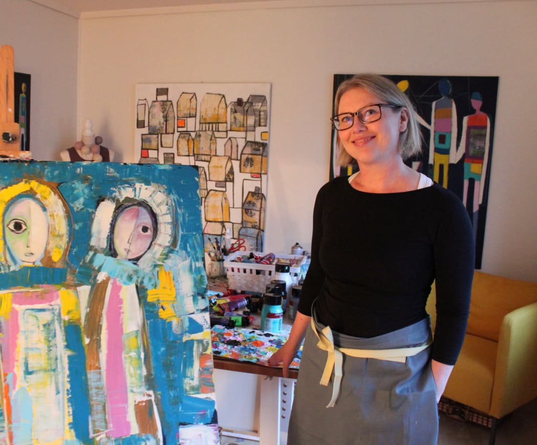 Bente Sandtorv in her studio