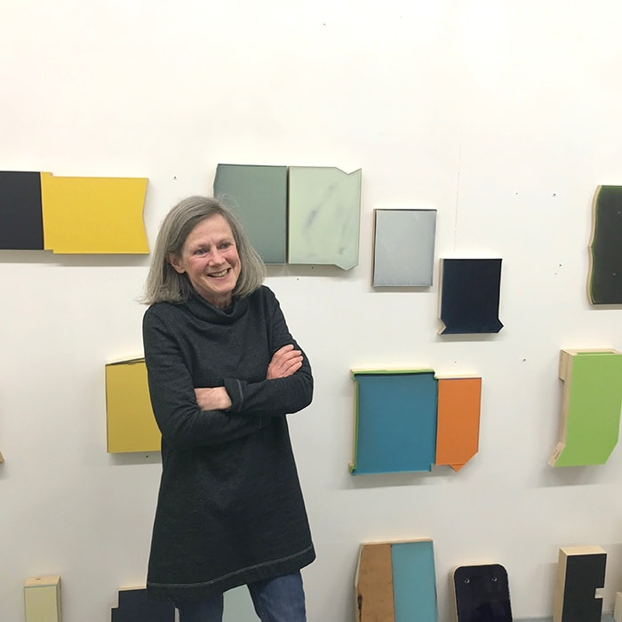 Molly Thomson in her studio 2019