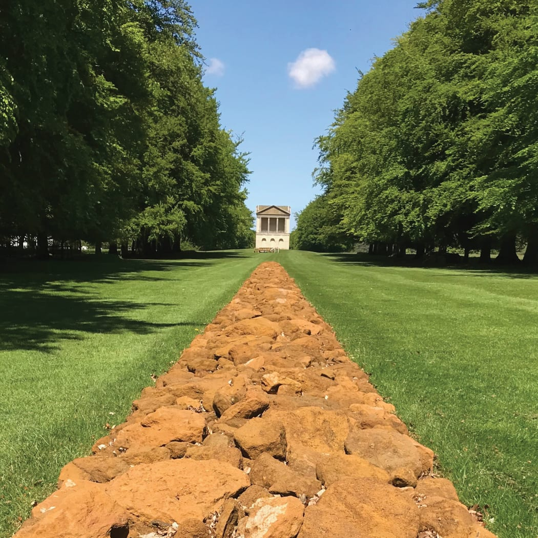 Norfolk Line by Richard Long at Houghton Hall, 2017