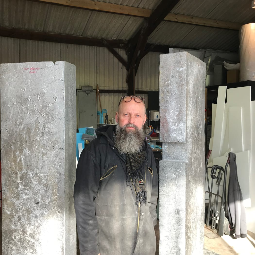 Jonathan Clarke, in his studio 2019. Picture by Paul Vater