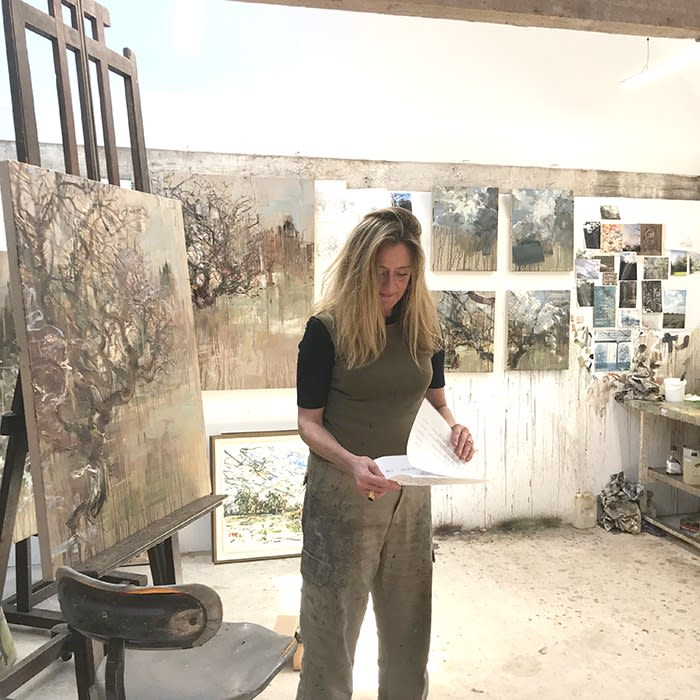 Kate Giles in her studio, 2018