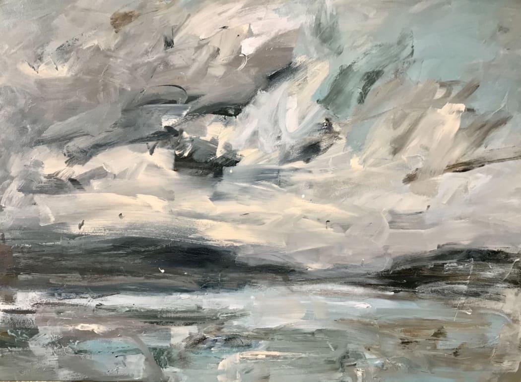 Towards the Small Isles, Skye, oil on canvas,  110 x 150 cms