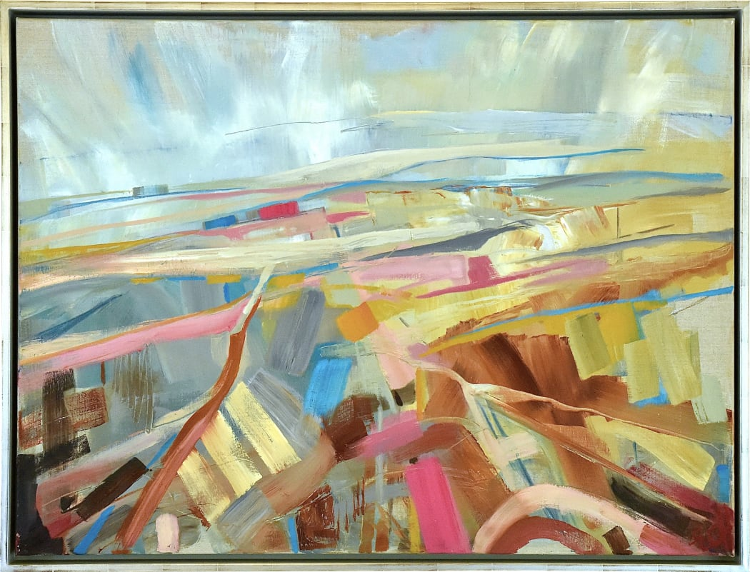 Frost across the Vale, oil on canvas, 76 x 106 cms