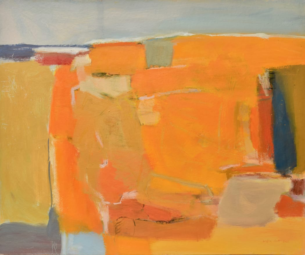 Thinking of Summer, oil on board, 81 x 91 cms