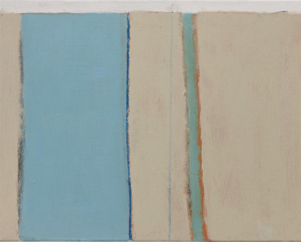 Jade Ribbon, mixed media on canvas, 40 x 50.5 cms