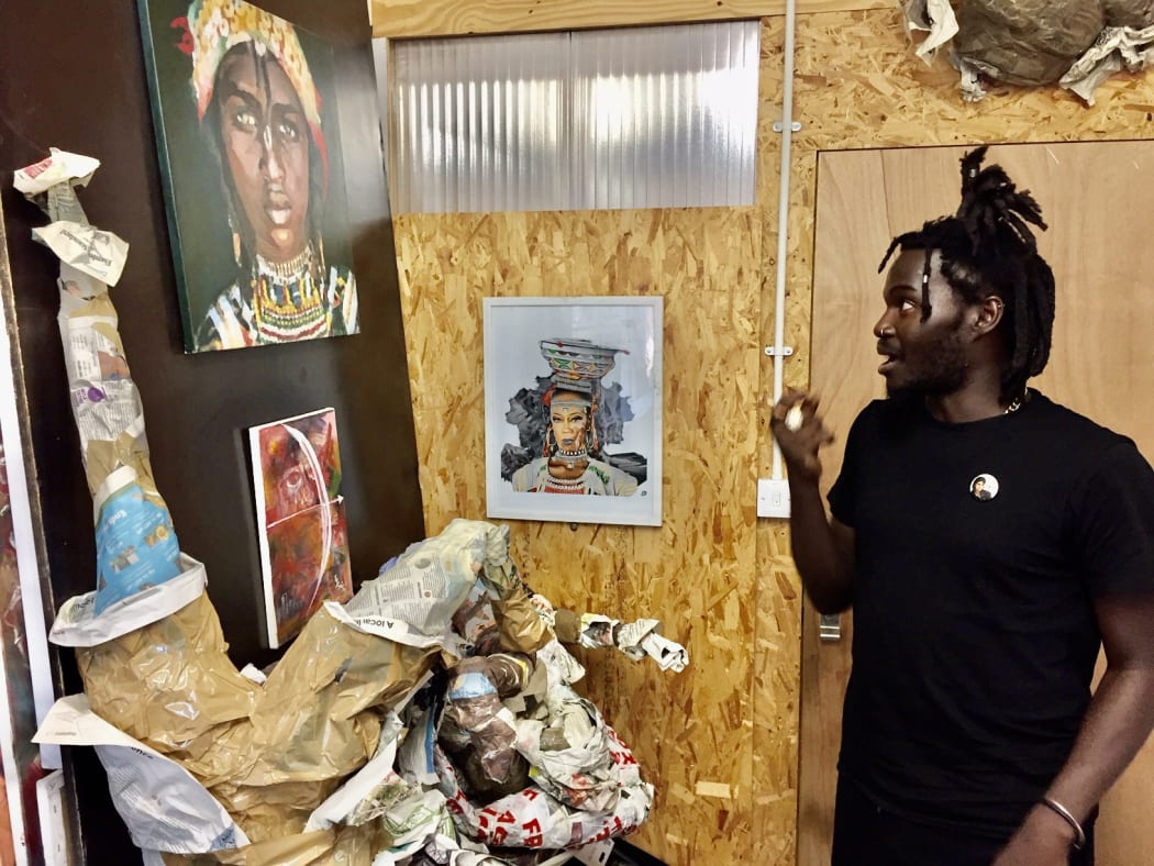 Sani in his art studio