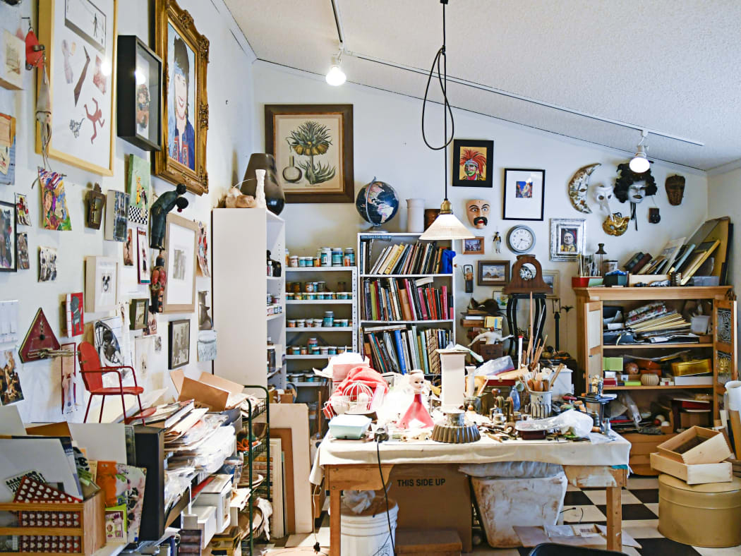 Art Studio of Bunny Tobias- Photo by Audrey Derell
