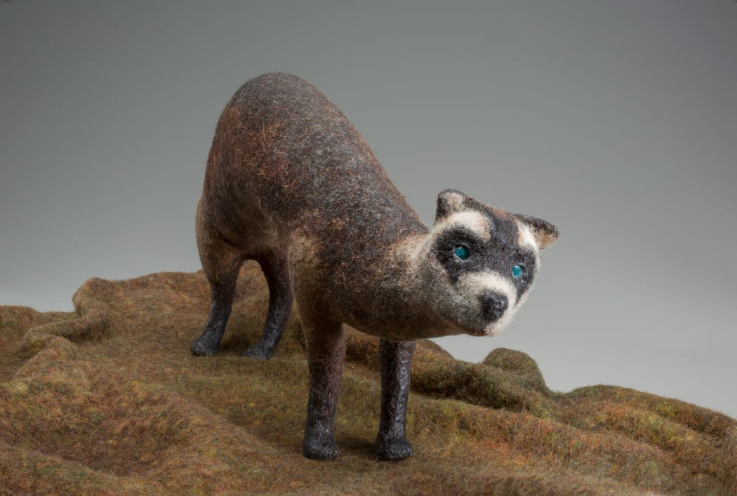 Susan Aaron Taylor, Black Footed Ferret 2 (detail).