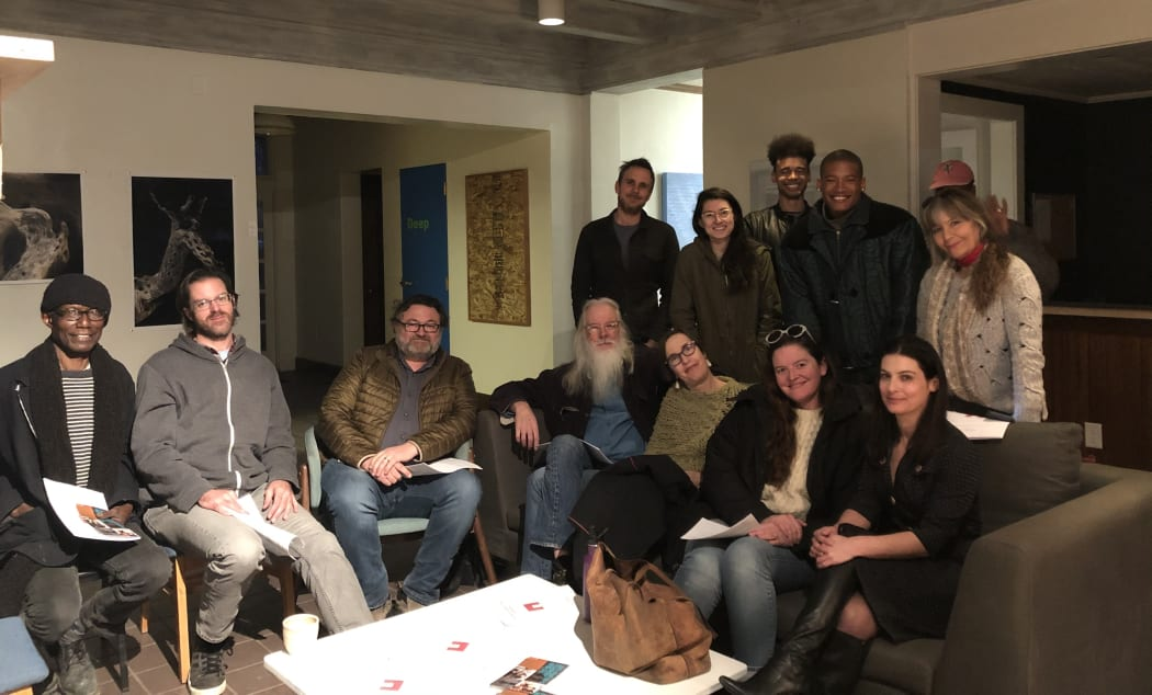 Vital Spaces studio artist meeting, Jan. 2020