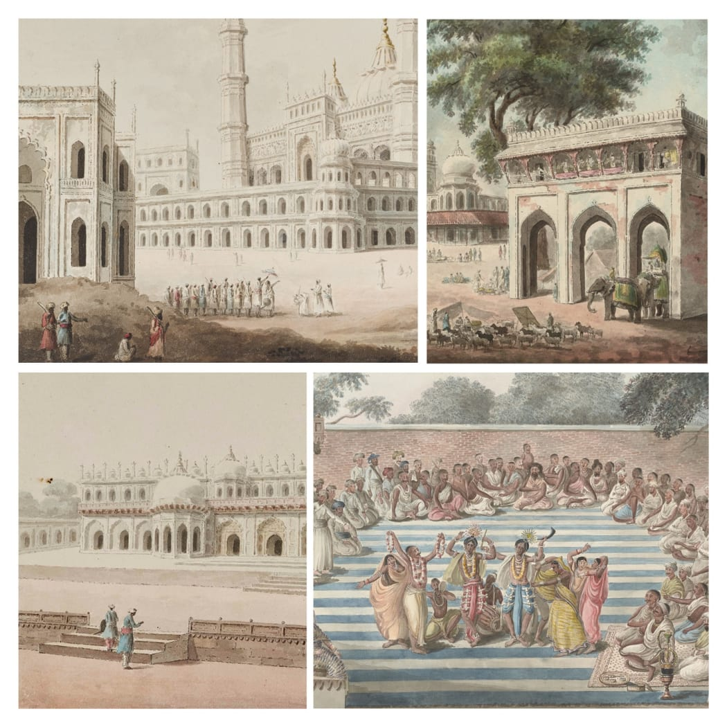 18th century Awadh and Bengal: political instability and artistic patronage