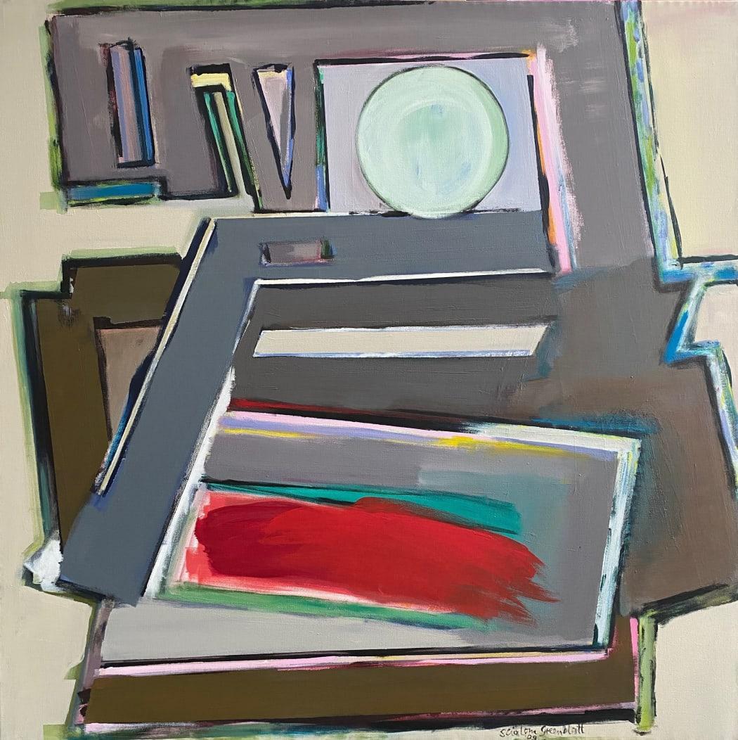 Him-a-Rushin/Vamos. 2009. Acrylic on canvas.100x100cm