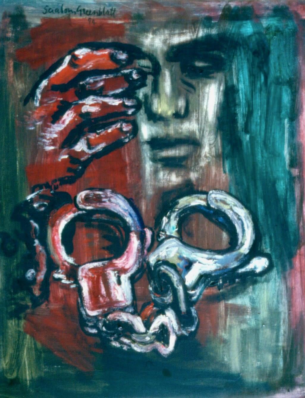 Mandela. 1994. Oil on canvas. 79x63cm