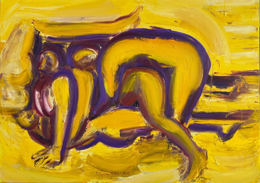 U-You Turn. 2021. Oil on canvas. 100x140cm