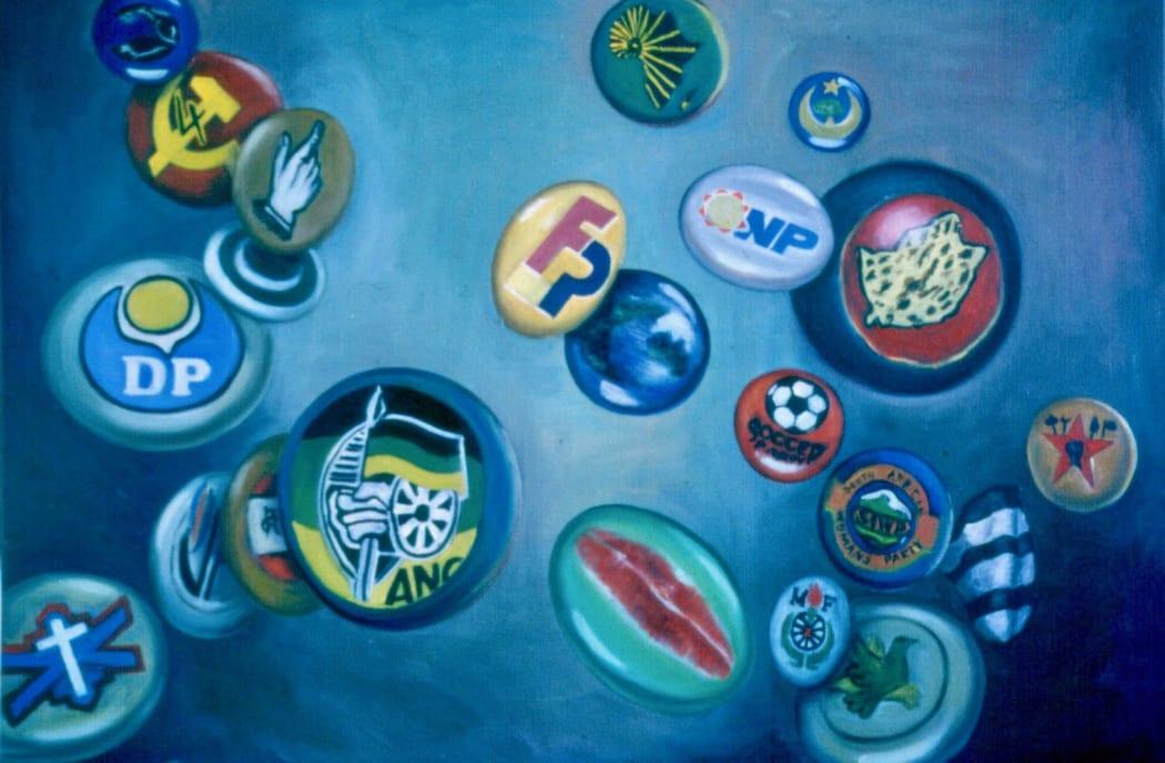 April 1994. 1994. Oil on canvas. 79x110cm