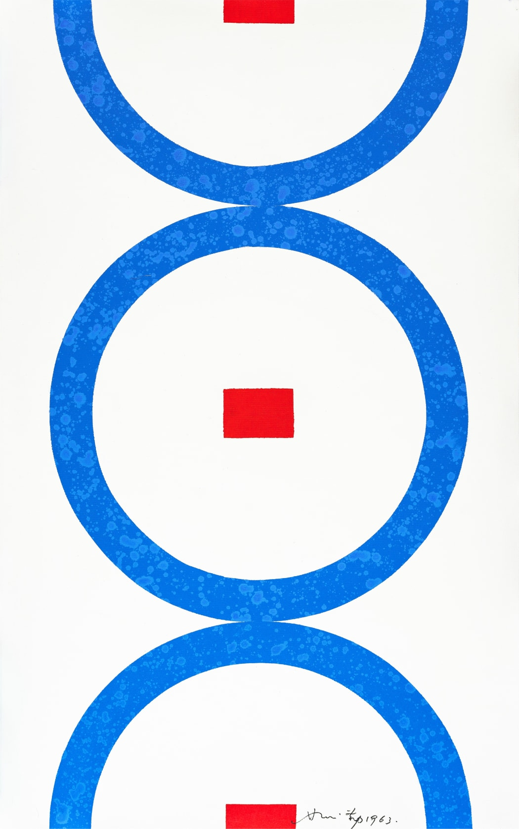 Hsiao Chin, The Cycles (Il Cicli), 1963, Acrylic on canvas, 120 x 76 cm