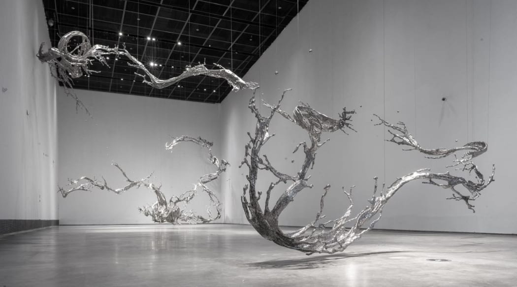 Zheng Lu, Water in Dripping - Silent Narratives, 2019 Stainless Steel, Site-installation, Variable size Exhibited in Yinchuan Museum of Contemporary Art, Ningxia, China