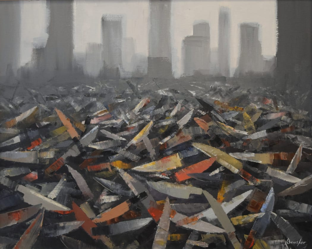 Steve Bewsher's Amnesty of Knives - and other political paintings